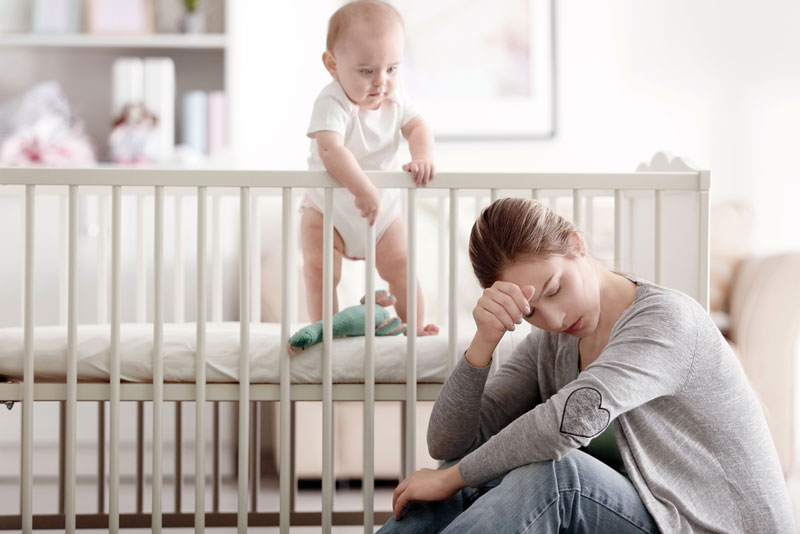 μαμά-μωρό-απόσταση